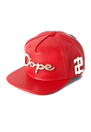 HATER헤이터  Dope 2 Die Red Grain Leather Snapback