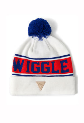HATER헤이터 Wiggle Logo White Beanie