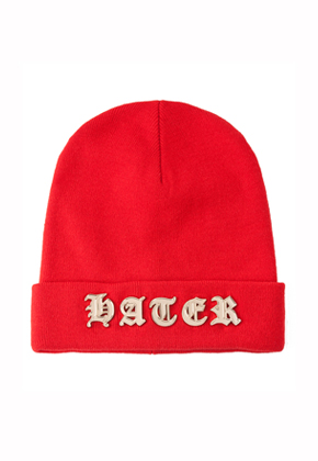 HATER헤이터 Metal Gothic Red Beanie