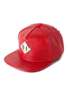 HATER헤이터 Gold Metal Lash Tap Red Snapback