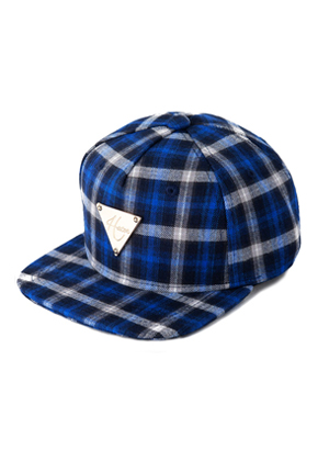 HATER헤이터 Flannel Plaid  Blue Snapback