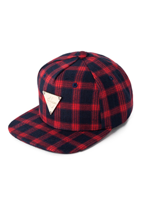 HATER헤이터 Flannel Plaid  Red Snapback
