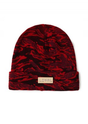 HATER헤이터 Royal Logo Camo Red Beanie