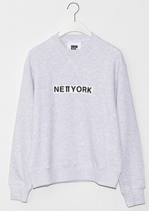 Nohant Newkidz노앙뉴키즈 LOVE CITY NEWYORK SWEATSHIRT LIGHT GRAY