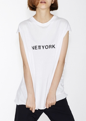 Nohant Newkidz노앙뉴키즈 LOVE CITY NEWYORK SLEEVELESS WHITE