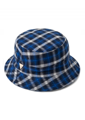HATER헤이터 Flannel Plaid Blue Bucket Hat