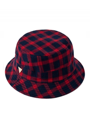 HATER헤이터 Flannel Plaid Red Bucket Hat