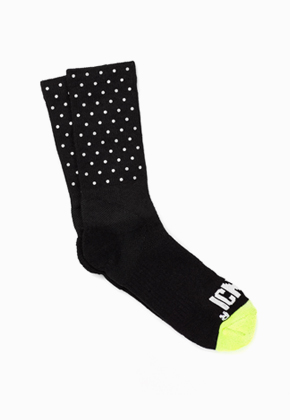 ICNY Mini Dot Half Calf Sock (Black)
