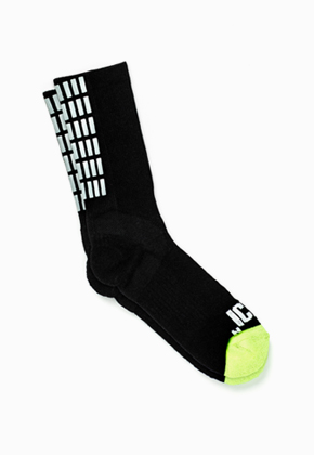 ICNY Gradient Grid Half Calf Sock (Black)