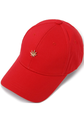 HATER헤이터 Gold Cannabis Cap Red