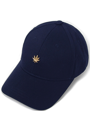 HATER헤이터 Gold Cannabis Cap Navy