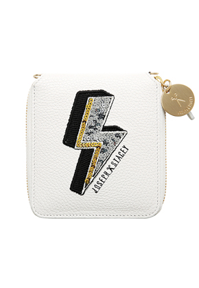 Joseph & Stacey조셉앤스테이시 Easy Pass Bolt Wallet Daisy White