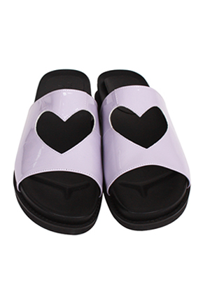 Margarin Fingers마가린핑거스 Heart Flat Sandle Purple