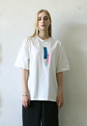 Kitchcock키치콕 UTOPIAN PRINT T-SHIRT WHITE
