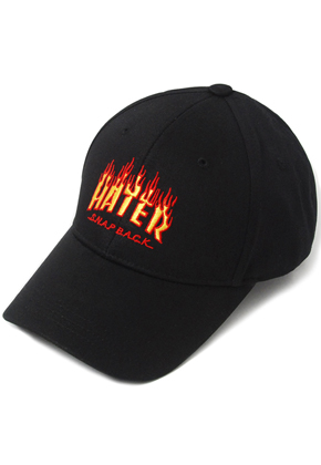 HATER헤이터 Flame Embroidery Cap Black