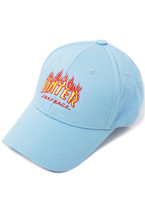 HATER헤이터 Flame Embroidery Cap Blue
