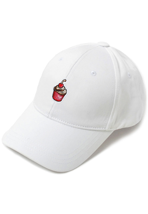 HATER헤이터 Cream Cake Embroidery Cap White