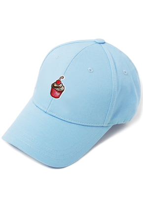 HATER헤이터 Cream Cake Embroidery Cap Blue