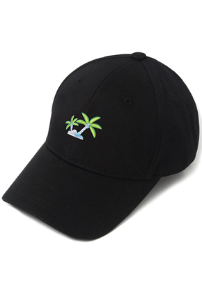 HATER헤이터 Coconut Tree Embroidery Cap Black