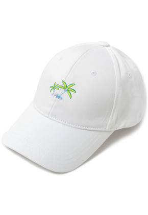 HATER헤이터 Coconut Tree Embroidery Cap White