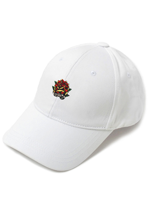 HATER헤이터 Rose Embroidery Cap White