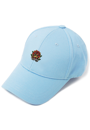 HATER헤이터 Rose Embroidery Cap Blue
