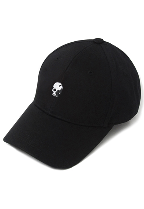 HATER헤이터 Skull Embroidery Cap Black