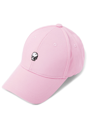 HATER헤이터 Skull Embroidery Cap Pink
