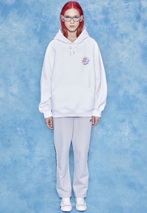 9 by 912 Symbol Hoodie White