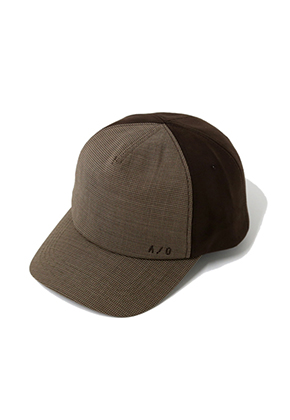 AJO BY AJO아조바이아조 Check/Suede Cap (Brown)