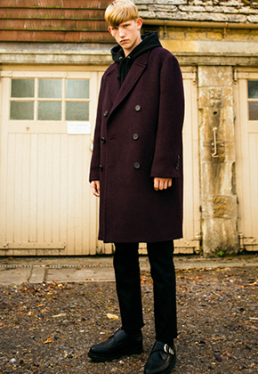 Anderssonbell앤더슨벨 Unisex Cashmere Olsson Oversized Coat awa037 Wine