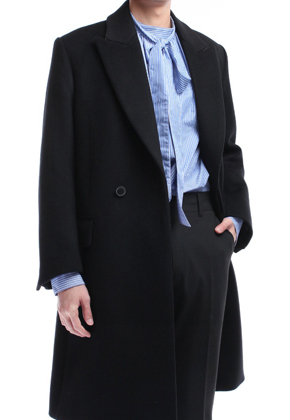 Blindness블라인드니스 TIimeless Picked Lapel Coat Black