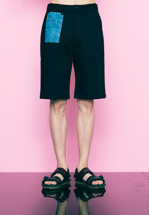 Freiknock프라이노크 Denim Pocket Short Pants