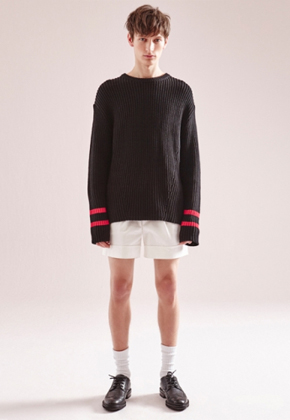 NOHANT노앙 COTTON SWEATER REGULAR BLACK