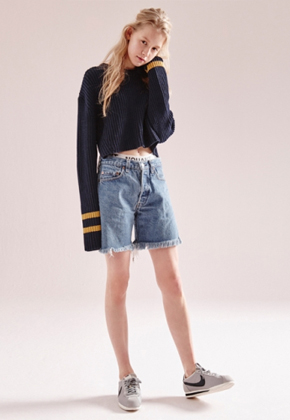 NOHANT노앙 COTTON SWEATER SHORT NAVY