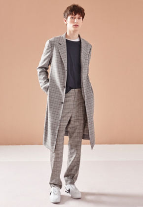 NOHANT노앙 3 BUTTON CHECK COAT GRAY