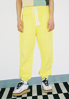 AJO BY AJO아조바이아조 Embo Jogger Pants (Lime)