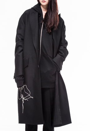 Noirer노이어 Woman Consolation Silk Overfit Coat