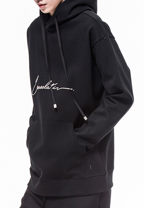 Noirer노이어 Men Consolation  Silk Flower Hood Sweat