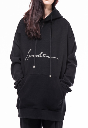 Noirer노이어 Woman Consolation  Silk Flower Hood Sweat