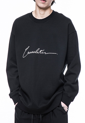 Noirer노이어 Men Consolation Overfit Sweat Shirts