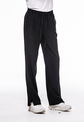 Noirer노이어 Men Wool Banding Wide Slacks