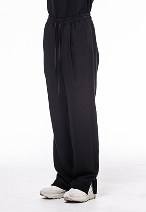 Noirer노이어 Woman Wool Banding Wide Slacks
