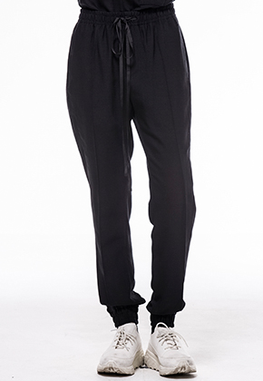 Noirer노이어 Woman Wool Banding Jogger Slacks