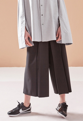 NOHANT노앙 DOUBLE-PLEATED PANTS BLACK