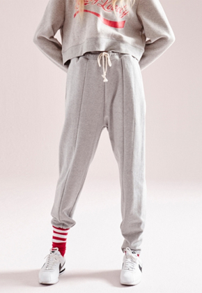 NOHANT노앙 UNBALANCED HEM SWEATPANTS GRAY