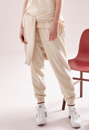 NOHANT노앙 KNITTED JOGGER PANTS IVORY