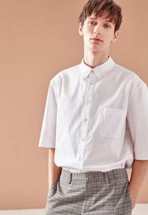 NOHANT노앙 CROPPED SHORT SLEEVE SHIRT WHITE
