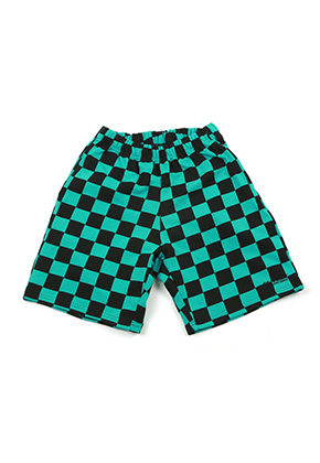 A Piece Of Cake어피스오브케이크 GG Trailer Checkerboard 1/2 Pants_Mint
