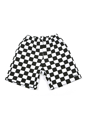 A Piece Of Cake어피스오브케이크 GG Trailer Checkerboard 1/2 Pants_White